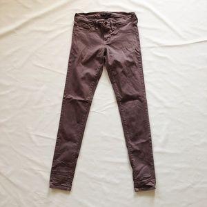 Mauve Vervet by Flying Monkey Skinny Jeans